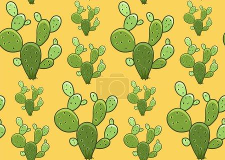 Cactus seamless vector pattern