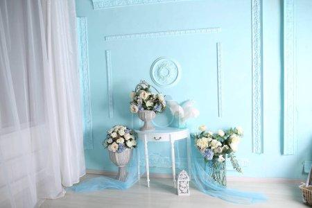 Photo pour Paysages printaniers en studio photo, décorations - image libre de droit