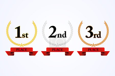 First, second and third place award laurel