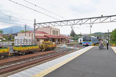 Shimoyoshida train station, Fujiyoshida, Japan