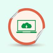 laptop download cloud icon