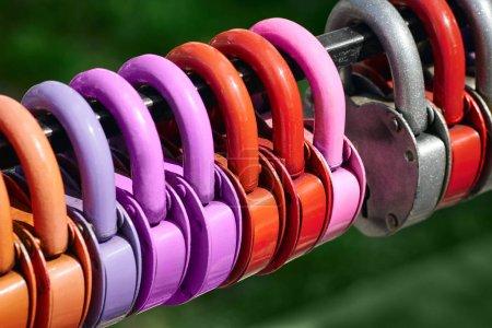 Love locks in love brigde