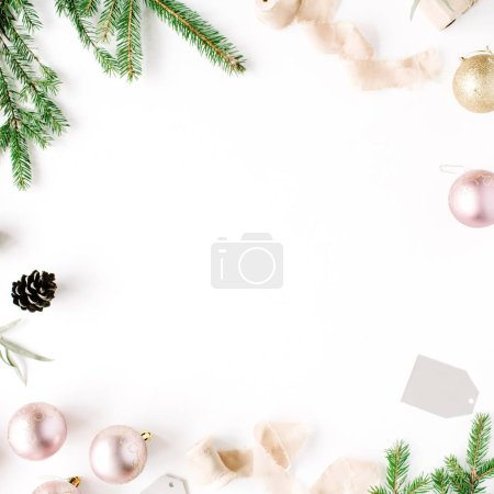 Trendy creatiove Christmas or New Year composition