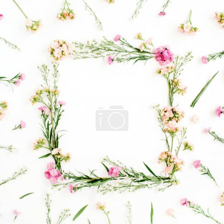 frame of colorful wildflowers