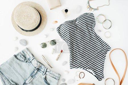 Feminine swimsuit beach accessories