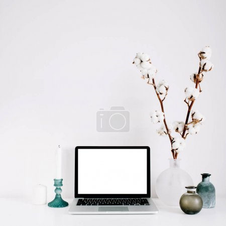 Blogger or freelancer workspace