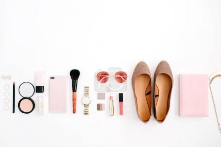 Female pink styled accessories