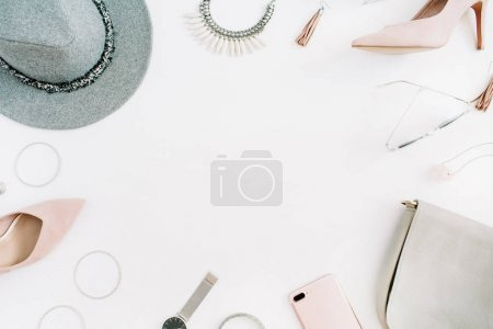 Women modern fashion clothes and accessories