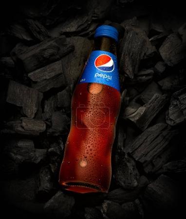 Pepsi cola in Glass bottle
