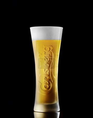 glass Of Carlsberg beer