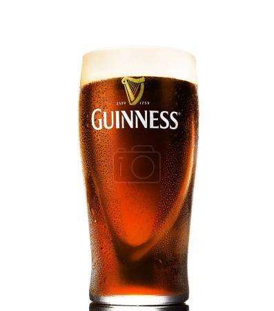 Pint of Guinness Irish beer