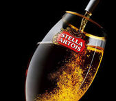 glass of Stella Artois beer
