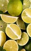 """Постер, картина, фотообои """"лимона и Лайма кусочки фона, макро"""""""