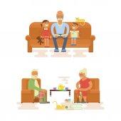 Grandparents Cartoon characters