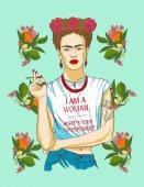 Magdalena Carmen Frida Kahlo y Calderon (6 July 1907  13 July 1954) usually known as Frida Kahlo was a Mexican painter