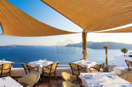 restaurant on terrace with view