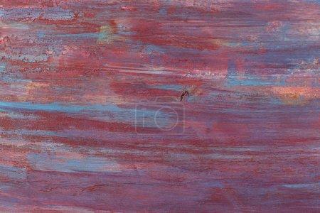 Photo pour Stries épaisses de peinture mélangée conception de fond dans des couleurs bleu foncé rouge , - image libre de droit