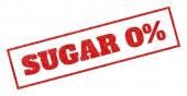 Sugar 0 Percent Rubber Stamp