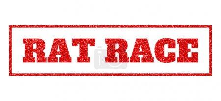 Rat Race Rubber Stamp