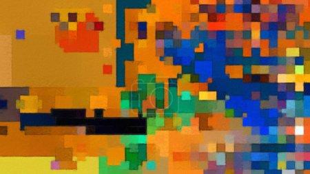 Foto de Fondo abstracto de arte moderno. Pintura al óleo sobre lienzo. Elementos de acuarela mezclados bellas obras de arte. Textura de dibujo acrílico con pinceladas brillantes. - Imagen libre de derechos