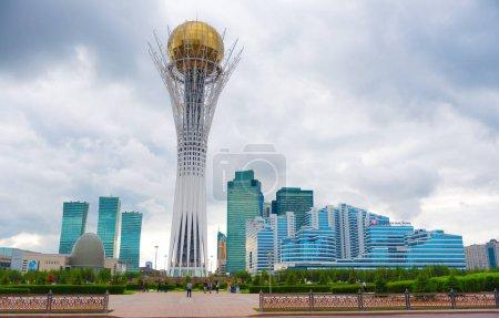 ASTANA,KAZAKHSTAN-MAY 31,2015:Astana-Baiterek Monument in the center of the capital