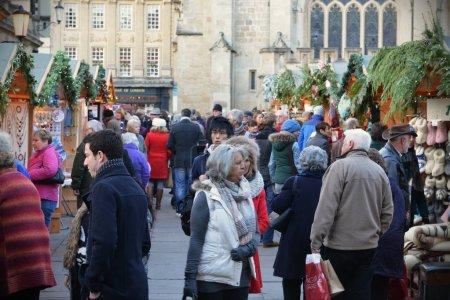 People visit Christmas Market
