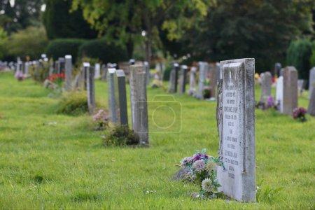 Tombstones on Church Graveyard