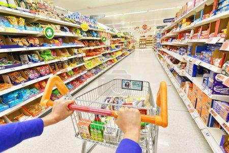 Shopper Pushing Cart