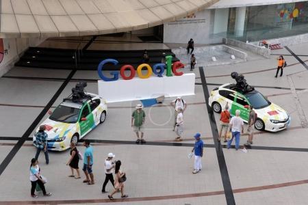 People walking near Google office