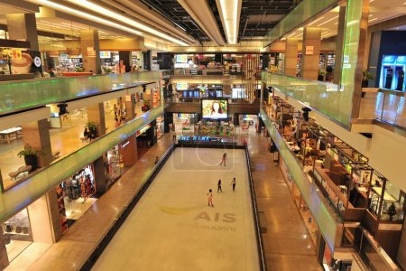 view of interior of shopping mall