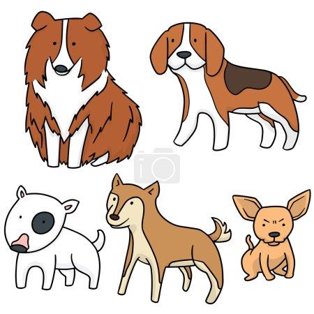 vector set of dog