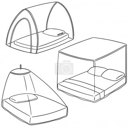 vector set of mosquito net