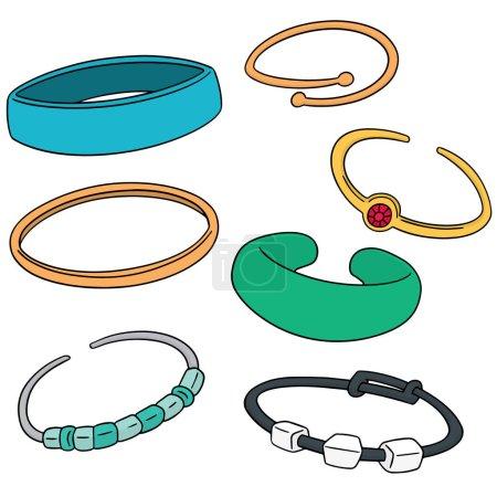 vector set of bracelet