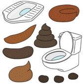 vector set of poop