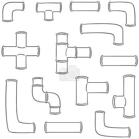 Illustration pour Ensemble vectoriel de tuyau - image libre de droit