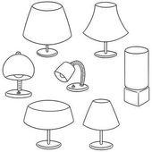 vector set of lamp