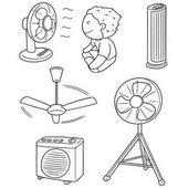 vector set of fan