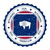 Wyoming flag badge