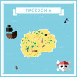 Постер, плакат: Flat treasure map of Macedonia the Former Yugoslav Republic Of