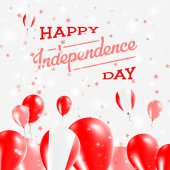 Peru Independence Day Patriotic Design Balloons in National Colors of the Country Happy