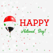 Syria National Day patriotic poster Flying Rubber Balloon in Colors of the Syrian Flag Syria