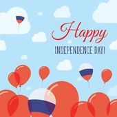 Russian Federation Independence Day Flat Patriotic Design Russian Flag Balloons Happy National Day