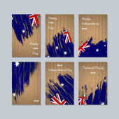 HIMI Patriotic Cards for National Day Expressive Brush Stroke in National Flag Colors on kraft