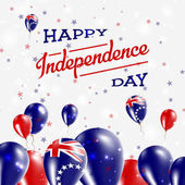 Cook Islands Independence Day Patriotic Design Balloons in National Colors of the Country Happy