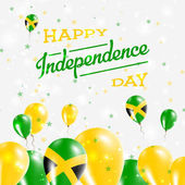 Jamaica Independence Day Patriotic Design Balloons in National Colors of the Country Happy