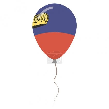Principality of Liechtenstein national colors isolated balloon on white background Independence day