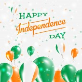Ireland Independence Day Patriotic Design Balloons in National Colors of the Country Happy