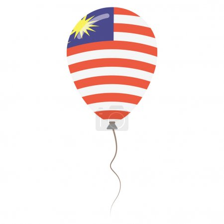 Malaysia national colors isolated balloon on white background Independence day patriotic poster
