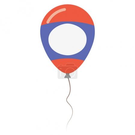 Lao Peoples Democratic Republic national colors isolated balloon on white background Independence