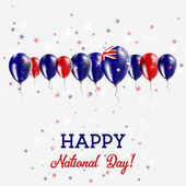 Heard and McDonald Islands Independence Day Sparkling Patriotic Poster Happy Independence Day Card